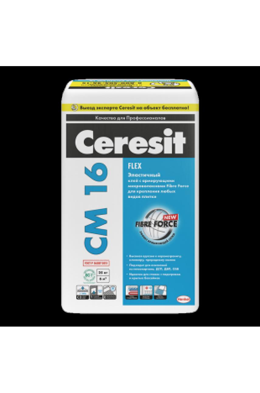 Ceresit CМ 16 Эластичный клей для крепления всех видов минеральной плитки
