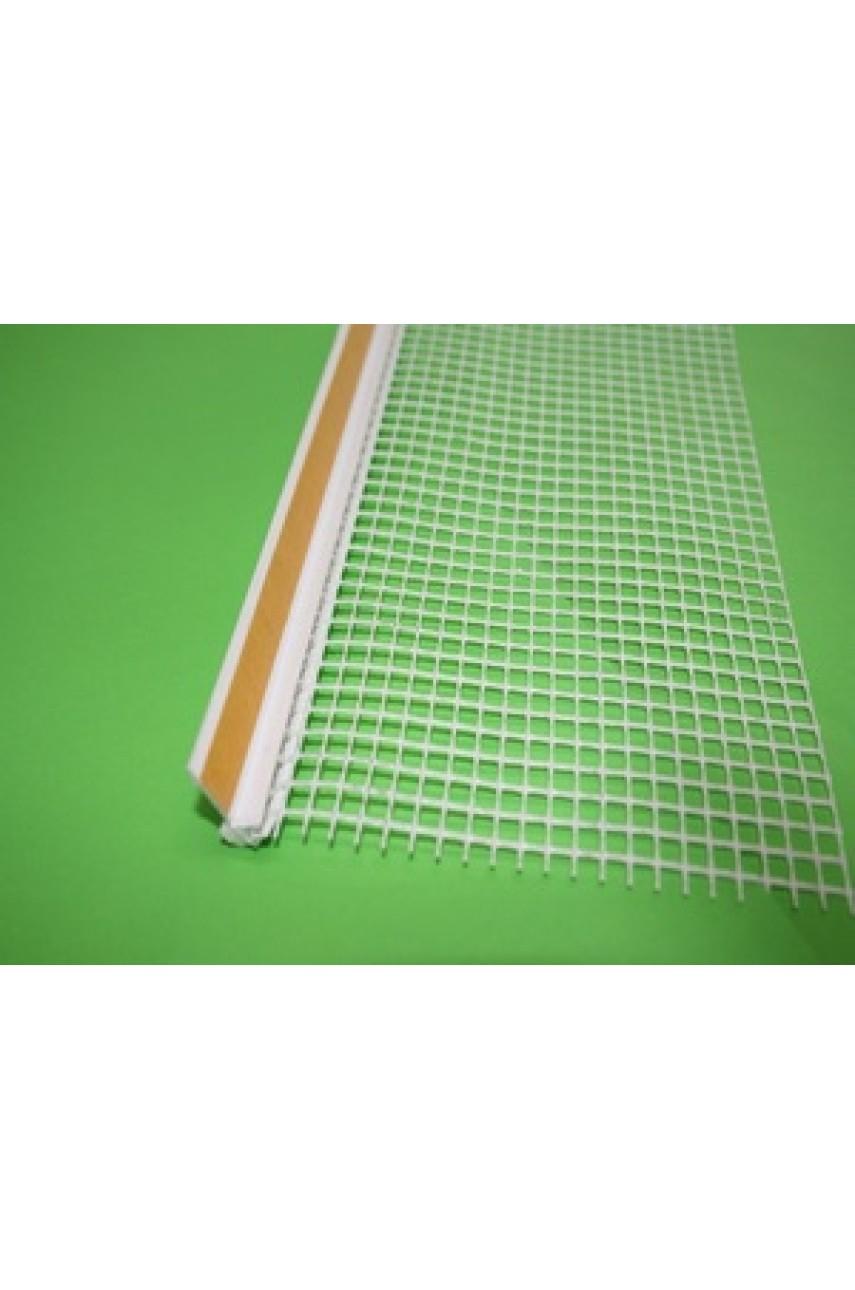 ПВХ-ПРОФИЛЬ оконный примыкающий с армирующей сеткой